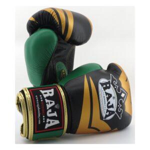 Guantes Raja Boxing Fancy Piel Negro/Verde