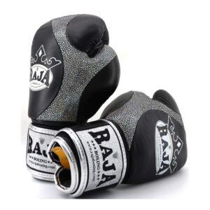Guantes Raja Boxing Premiun Piel Negro
