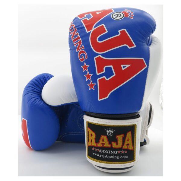 Guantes Raja Boxing Special Piel Azul