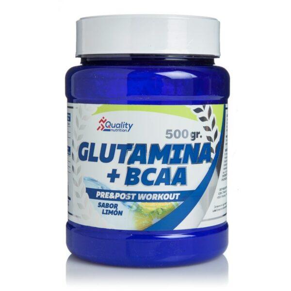 Bcaa + Glutamina 500 gr de Quality Nutrition