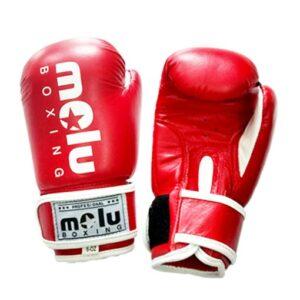 Guantes PIEL NIÑOS Rojos de Molu Boxing