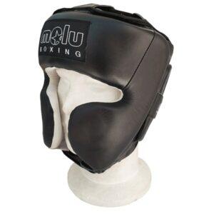 Casco Profesional Pomulos BIG Negro de Molu Boxing