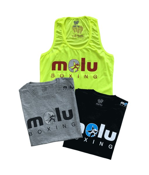 Camiseta Gris LOGO chica de Molu Boxing
