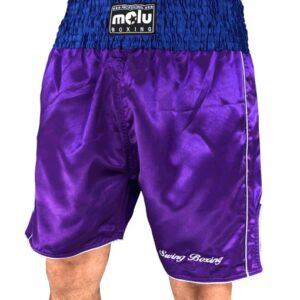 Pantalón boxeo Profesional Satén Morado de Molu Boxing