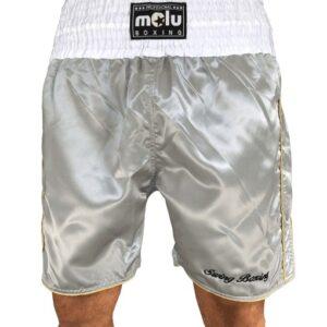 Pantalón boxeo Profesional Satén Plata de Molu Boxing