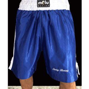 Pantalón boxeo Amateur Satén Azul de Molu Boxing