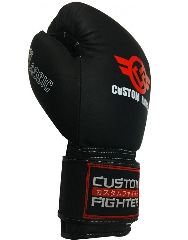 Guantes Pro Classic Negro Mate Custom Fighter