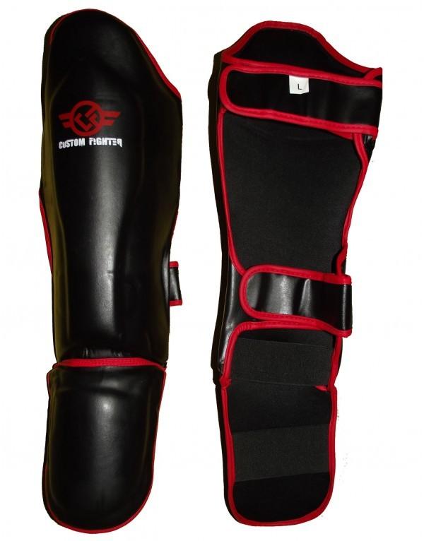 Espinillera Steel Leg Negra de Custom Fighter