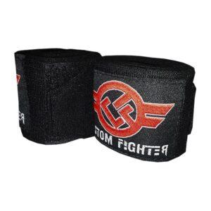 Venda Semi Elástica 3.5 Mtr Negro de Custom Fighter