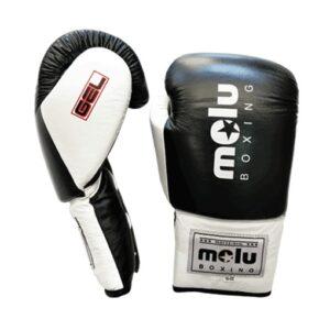 Guantes Piel Cuerda Gel Negro de Molu Boxing
