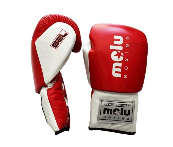Guantes Piel Cuerda Gel Rojo de Molu Boxing