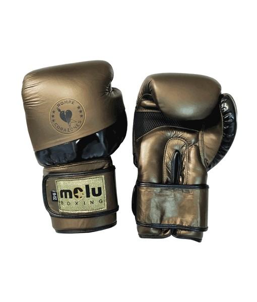 Guantes Piel ROMPECORAZONES Oro de Molu Boxing