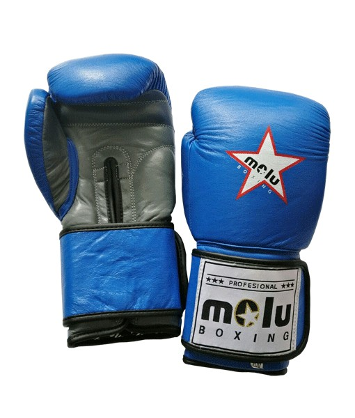 Guantes STAR AZTECA Azul de Molu Boxing