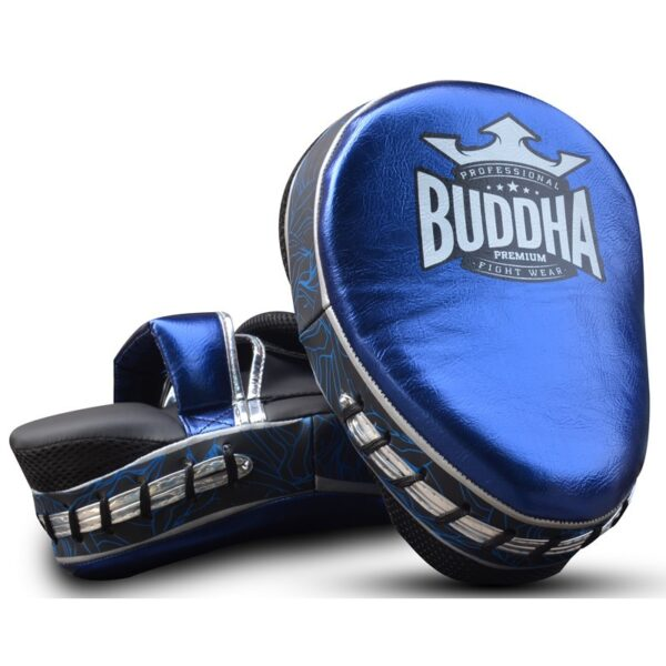 Manoplas Curvadas Buddha Premiun Azul/Plata