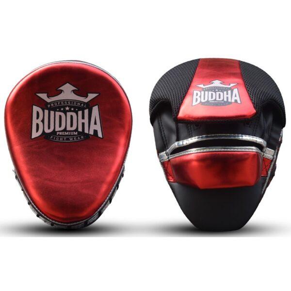 Manoplas Curvadas Buddha Premiun Rojo/Plata
